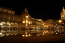 Braga - Place centrale de nuit
